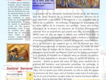 Boletín, Domingo 13ro después de Pentecostés
