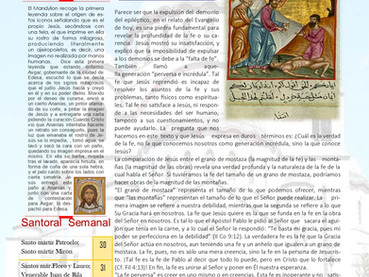 Boletín Dominical, 10mo domingo, después de Pentecostés