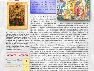 Boletín, Domingo 8vo después de Pentecostés