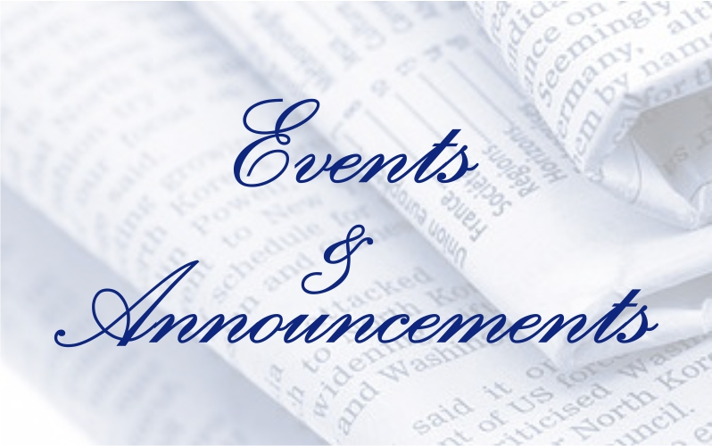 Events & Announcements