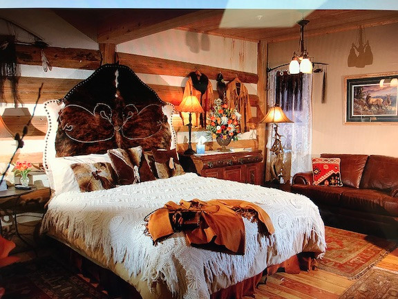The Leather and Lace room at the Swan River Inn in Bigfork, Montana.