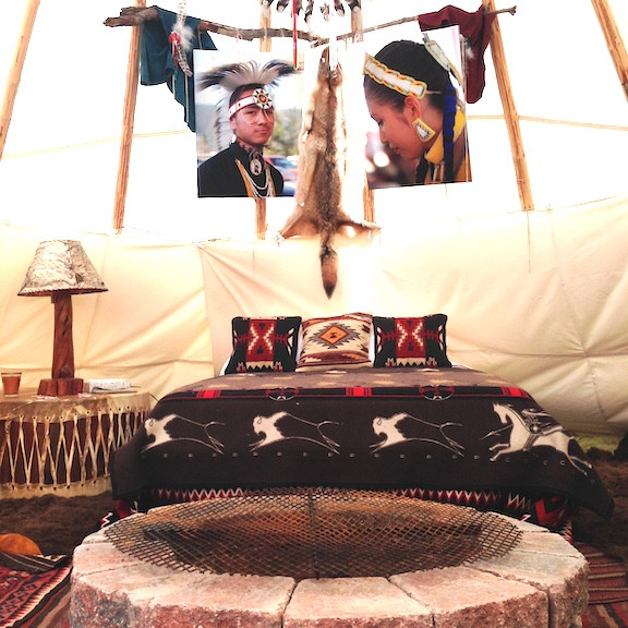 The Tipi rental at Swan River Inn's Country Living location south of Bigfork