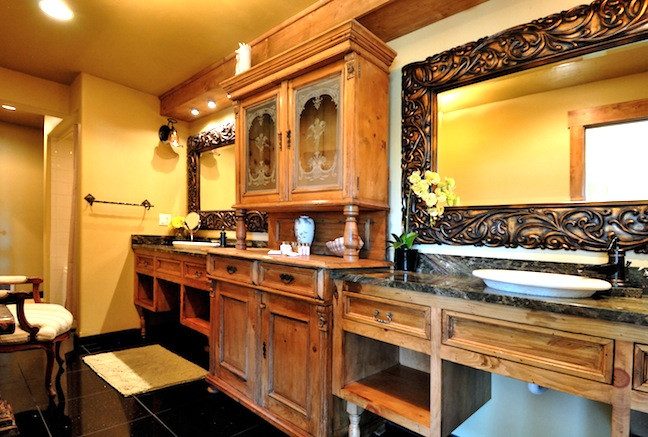 Custom sinks at the Victorian room at the Swan River Inn in Bigfork, Montana