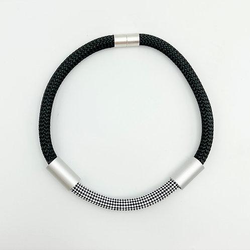 Herringbone Cord Necklace by Christina Brampti
