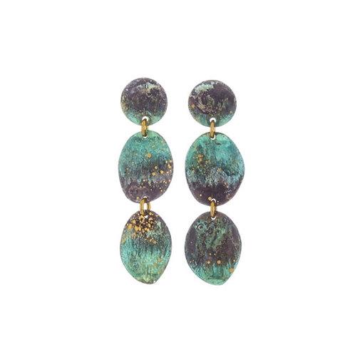 Three Pebbles Earrings by Sibilia