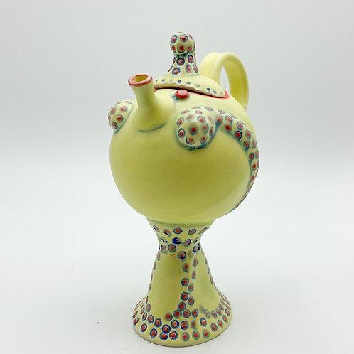 Yellow Lady Teapot by Rebecca Lowery Ceramics
