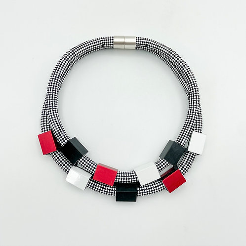 Double Strand Cubes Collar by Christina Brampti