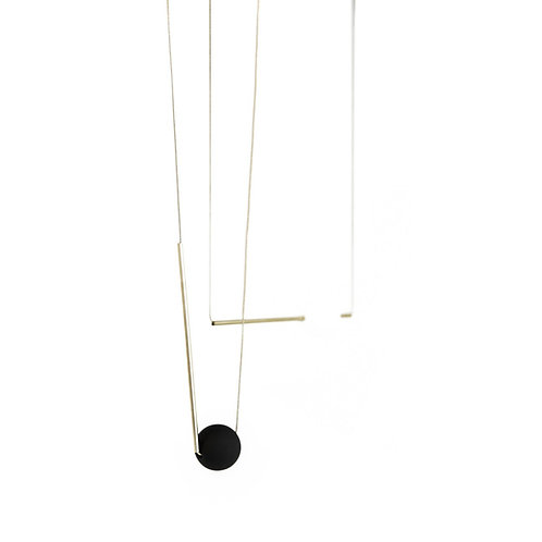 Bar & Orb Necklace by Pursuits Jewelry