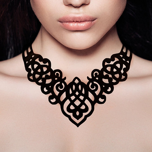 Black Silicone Necklace by Ladygum