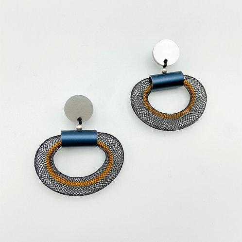 Mesh Loop Earring by Christina Brampti