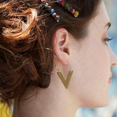 Side Arrow Earrings by WorldFinds