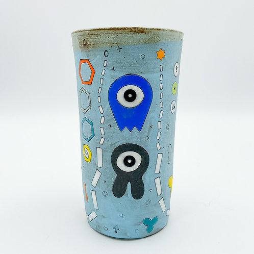One Eyed Alien Tumbler by Masa Sasaki Ceramics
