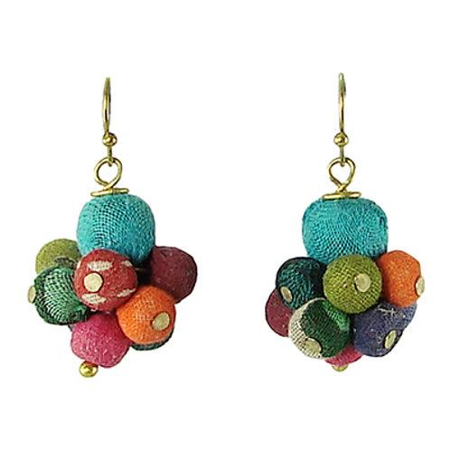 Kantha Drop Earrings by WorldFinds