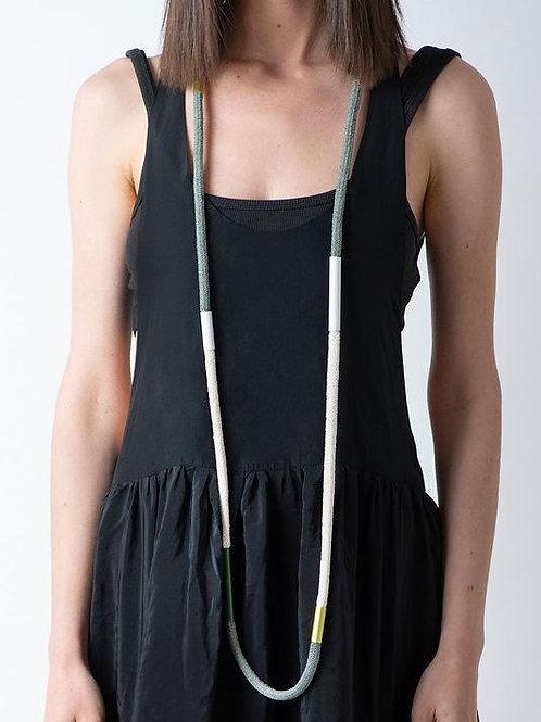 XL Herringbone Cord Necklace by Christina Brampti