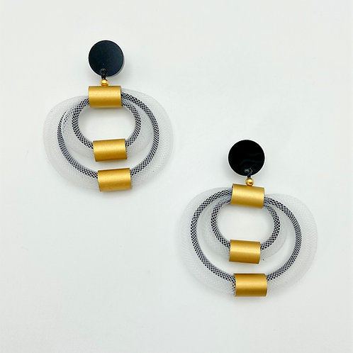 Double Mesh Loop Earring by Christina Brampti