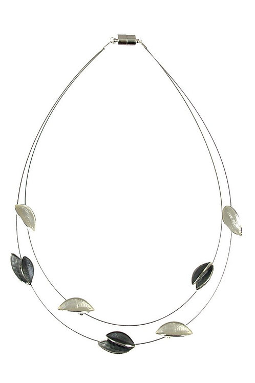 Two Strand Leaves Necklace by Origin Jewelry