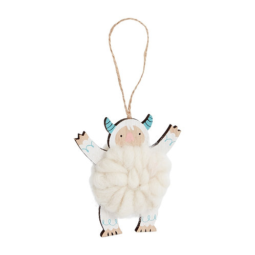Cuddly Yeti Ornament
