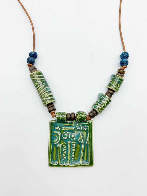 Architectural Accent Necklace by Sharon Ramick