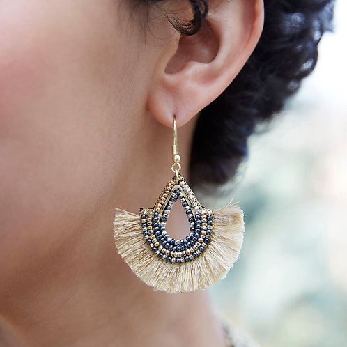 Golden Fan Earrings by WorldFinds