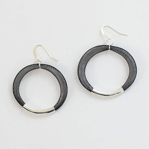 Mesh Hoop Earrings by Sylca Designs