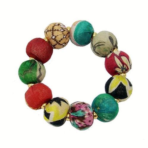 Kantha Bauble Bracelet by WorldFinds