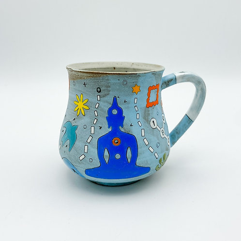 Pot Belly Buddha Mug by Masa Sasaki Ceramics