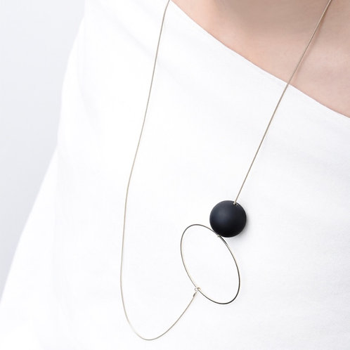 Halo and Orb Necklace by Pursuits Jewelry