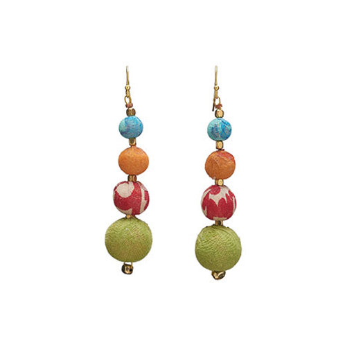 Graduated Kantha Earrings by WorldFinds