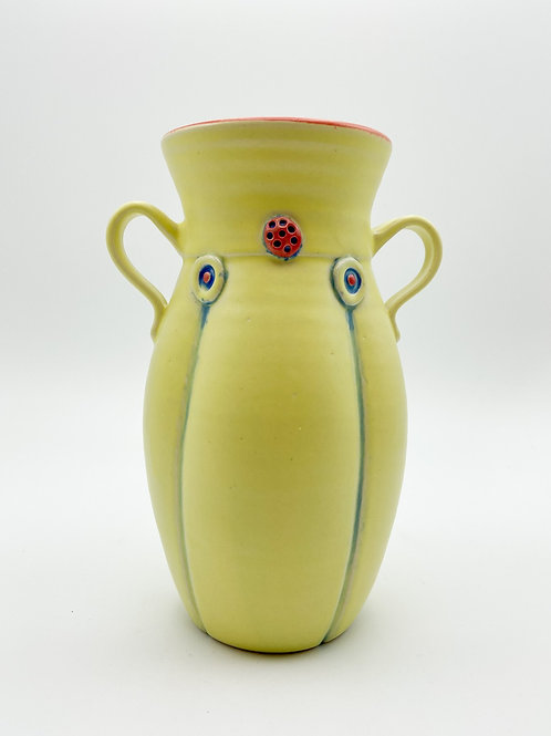 Yellow Vase by Rebecca Lowery Ceramics