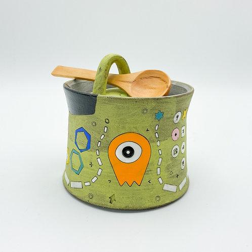 Sugar Pot by Masa Sasaki Ceramics