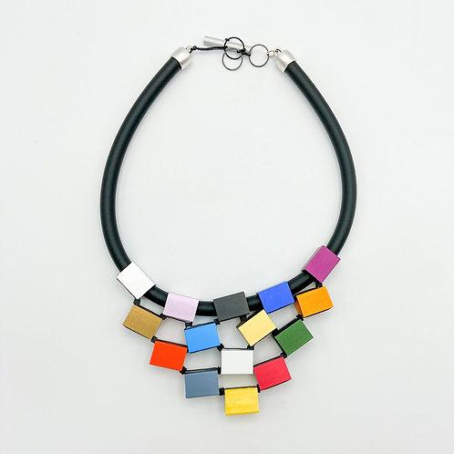 Cubes Pyramid Necklace by Christina Brampti