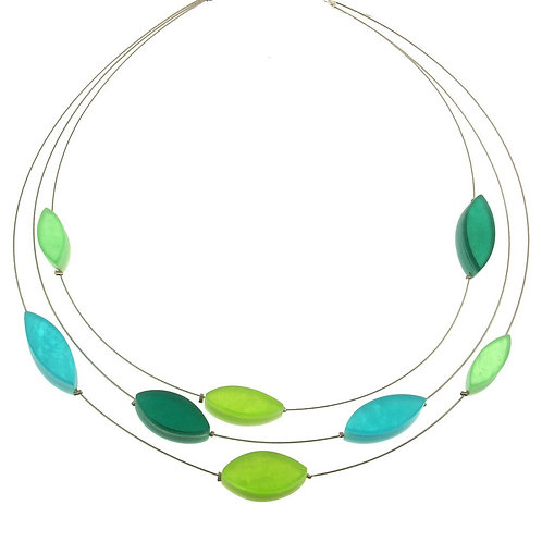 Multi-Strand Leaf Necklace by Origins Jewelry