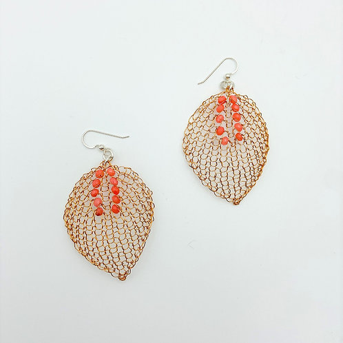 Leaf Earrings by Unbridled Wire
