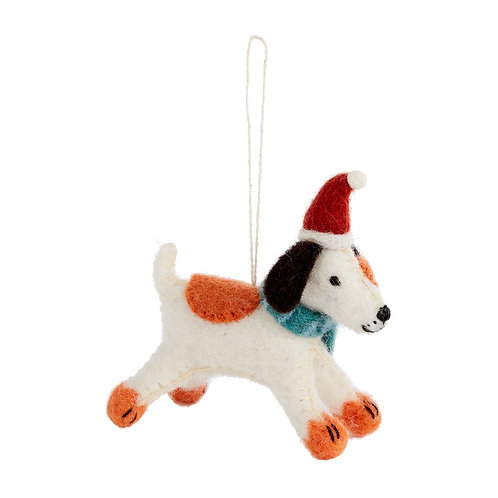 Felted Fido Ornament