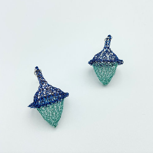 Acorn Earrings by Unbridled Wire