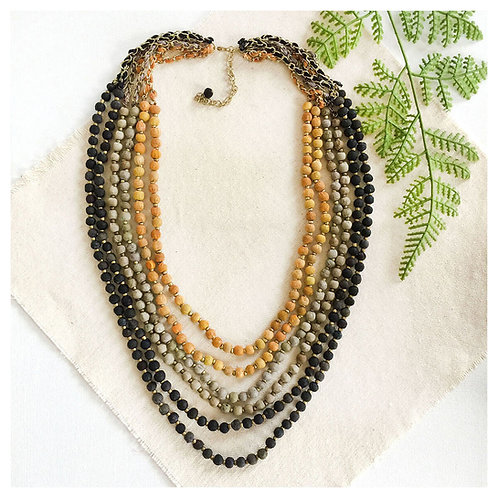 Kantha Midnight Sun Necklace by WorldFinds