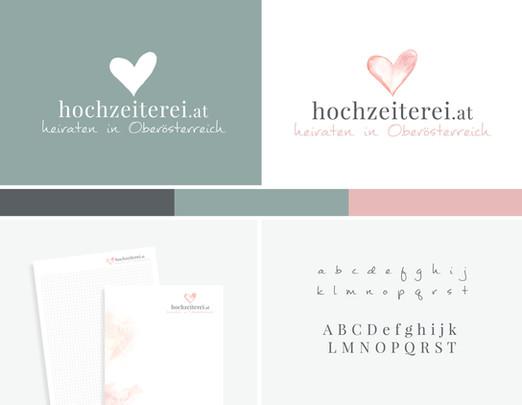 Corporate Design für die Hochzeiterei.at