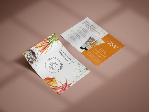 Flyer für Hands on Veggies