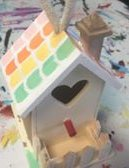 BIRDHOUSE DECORATING
