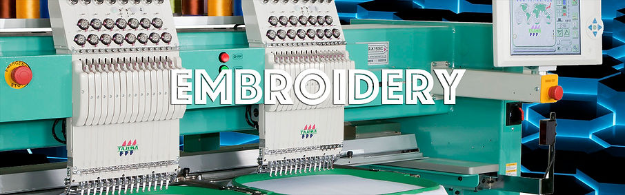 Embroidery, screen printing