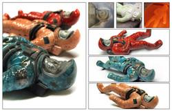 Astro Man Raku Ceramic Toy