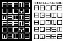 Frank Lloyd Write Type Specimen
