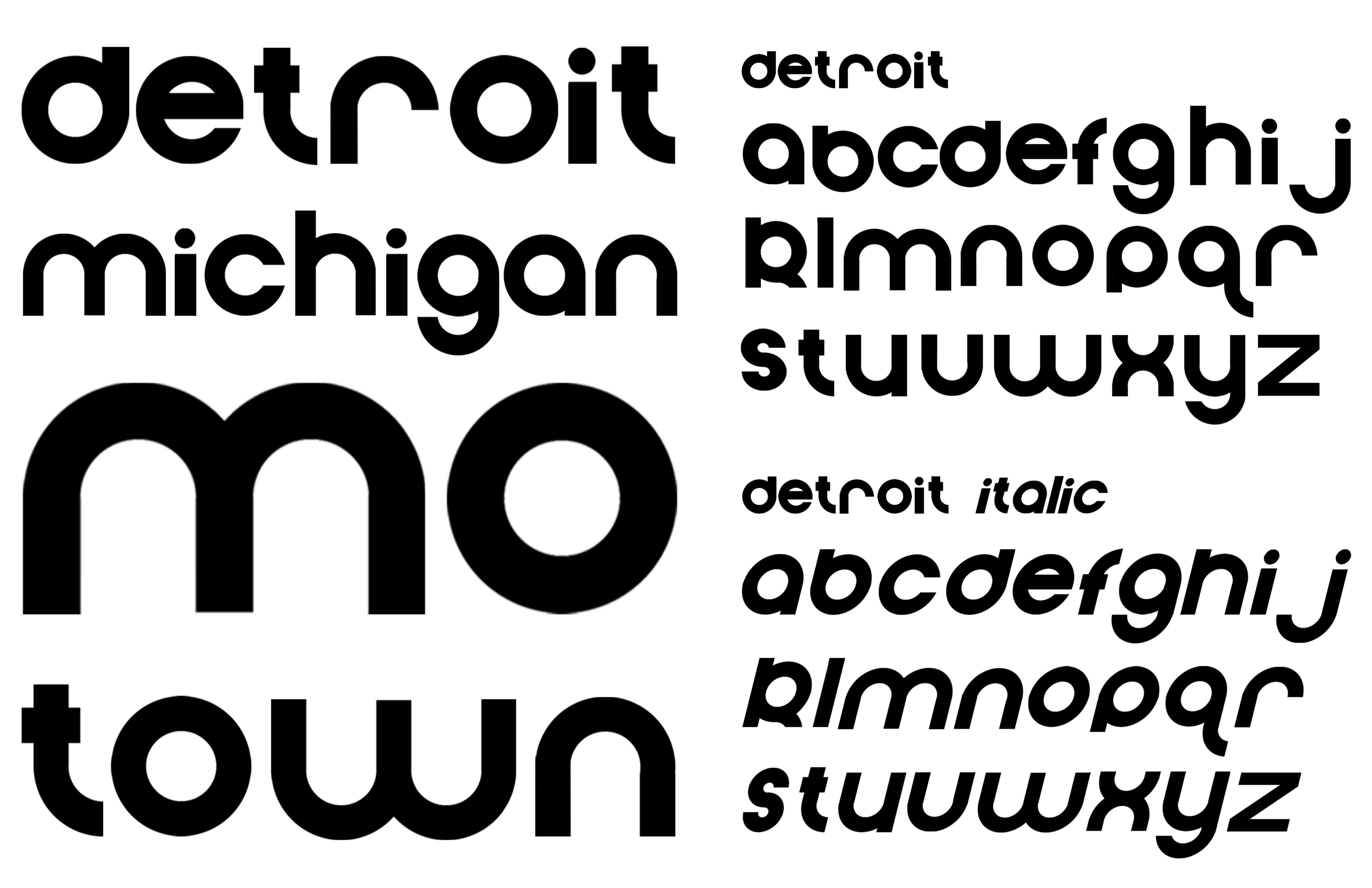 Detroit Type Specimen