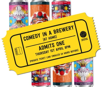 Mondo Brewing & Friendship Adventure Present: Comedy in a brewery (At home)