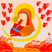 Madonna and Child. Fly-Angels