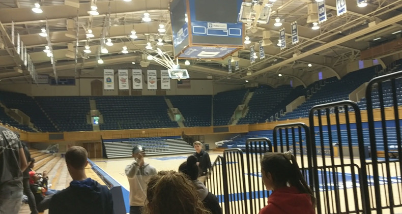 Walking into Cameron Indoor!