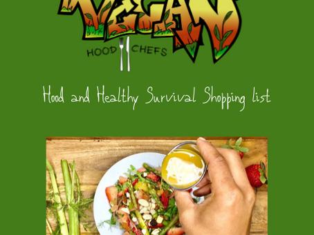 Hood &HEalthy Survival shopping list