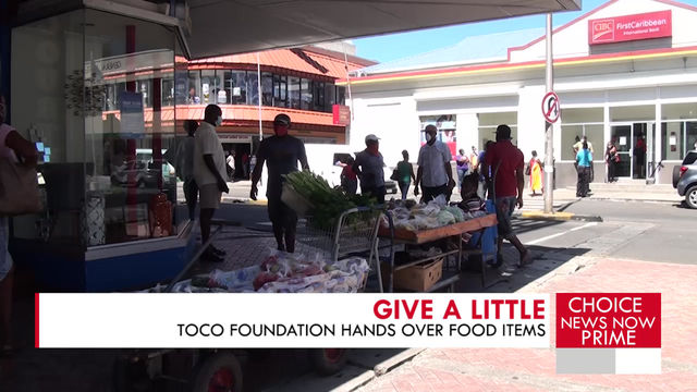 LOCAL ORGANIZATIONS TEAM UP TO DONATE FOOD ITEMS.