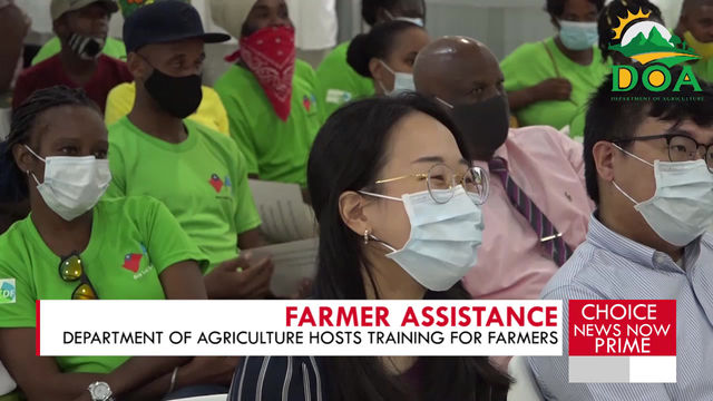 FARMERS RECEIVE TRAINING FOR THE ADVANCEMENT OF THE SECTOR.