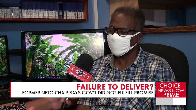 FORMER NFTO CHAIRMAN SAYS GOV'T DID NOT DELIVER PROMISES.